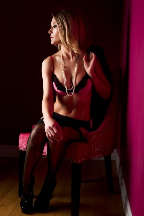 stylish boudoir shot