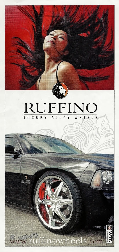 Model photo used on ad for Ruffino